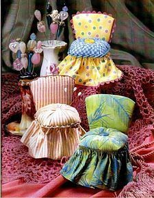 pincushions - guilty pleasure....frilly, girlie and almost completely useless