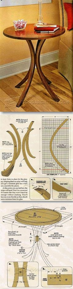 Curved-Leg End Table Plans - Furniture Plans and Projects | WoodArchivist.com