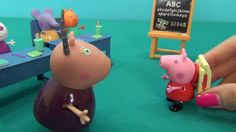 Peppa Pig in English. Peppa and her first day at school. Peppa Pig and h...