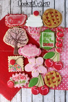 CookieCrazie: Cherry Sweet Decorated Cookie Collection
