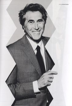 Bryan Ferry wears our mid-grey sharkskin suit in the AW13 issue of Hunger.