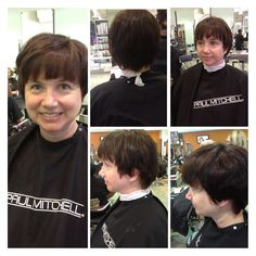 hair i did on my mom! i used pm shines in and for the fringe area. we call it the ~crazy but still conservative~ look. Paul Mitchell, My Mom, Hair Color, Woman, Haircolor, Colored Hair, Hair Colors