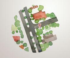 watercolour spot maps