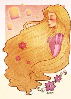 I was really over-due a Tangled fan art. Here is Rapunzel ~ Hope you like it Rapunzel Disney Rapunzel, Arte Disney, Disney Magic, Disney Princesses, Princess Rapunzel, Tangled Rapunzel, Princess Belle, Disney Artwork, Disney Fan Art