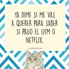 Pagó el gym o el netflix Words Quotes, Love Quotes, Funny Quotes, Inspirational Quotes, Sayings, Frases Humor, Gym Humor, Humor Dental, Beautiful Mind