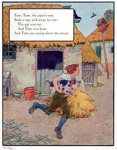 """Tom, the piper's son"", aus: ""Mother Goose"", Volland Popular Edition (1921), Illustration von Frederick Richardson (1862 - 1937)"