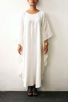 Diamond White Summer Dress by weltenbuerger on Etsy, $98.00
