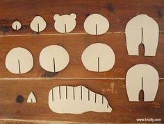 Cardboard Bear / Ós de Cartró / Oso de Cartón #handmade #bear #brownbear #cardboard #template #3D #osopardo #oso #cartón #plantilla