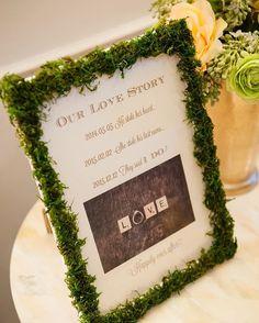 * #ラブストーリー ✍️ モスフレームも手作りしました * 席次表をはじめ、結婚式のペーパーアイテムは ほとんど手作りしたのですが どれも #マツガシタさん の前撮り写真を入れるだけで おしゃれなものに早変わり☺️✨✨ * #結婚式DIY #花嫁DIY #ウェディングDIY #結婚式準備 #披露宴会場 #会場装飾 #会場装花 #ウェルカムアイテム #アニヴェルセル表参道 #アニ嫁 #プレ花嫁 #卒花嫁 #花嫁 #ウェディングフォト #ウェディングニュース #ハナコレ #日本中のプレ花嫁さんと繋がりたい#ナチュラルウェディング #marryxoxo #wedding #happywedding #apwedding☺︎