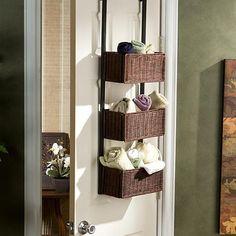 Home Marketplace Over The Door 3 Tier Basket Storage