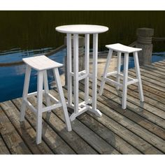 Recycled Plastic Bar Height Saddle Seat Stool | POLYWOOD Outdoor Durable Furniture | Available at Vermont Woods Studios