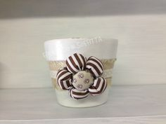 vaso decorato stile shabby