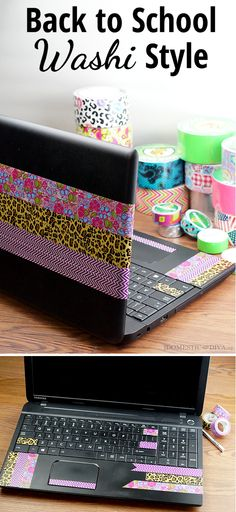 Personalize your Back To School: How to Decorate a Laptop with Washi Tape
