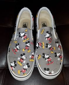 Vans X Disney Mickey Mouse Men s Slip On Shoes Size 10  VANS   LoafersSlipOns Mens 9d0fc142c