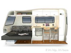 If It's Hip, It's Here (Archives): Good Design For The Great Outdoors: Nest Caravans