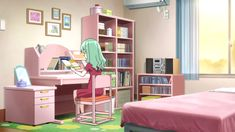 anime living simple bedroom rooms manga background bedrooms scenery otaku drawing animation stuff inspired dorm decor oct