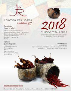 CURSOS Cerámica Tres Piedras 2018 Glaze, Beef, Food, Clay Art, Modeling, Enamels, Vases, Recipes, Ceramic Workshop