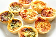 Mini Quiches Mini Quiches are an all time favourite - these freeze really well in a zip lock bag - they are perfect for when guests drop around, kids lunches, or just a snack!