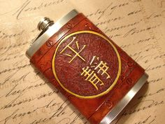 "Firefly ""Serenity"" Steampunk Leather 8oz Flask - MADE TO ORDER -. $60.00, via Etsy."