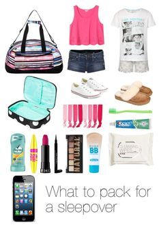 """What to pack for a sleepover (read the d)"" by emmaluvsonedirection ❤ liked on Polyvore featuring Roxy, M&S, Contents, Monki, True Religion, Converse, UGG Australia, Sephora Collection, Paul Smith and Maybelline"