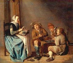 Jan Miense Molenaer (Dutch artist. 1610-1669) Lacemaker
