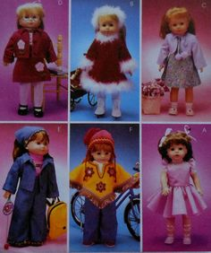 "18""  Doll Clothes Sewing Pattern UNCUT McCalls 3040 Christmas dress jacket backpack"