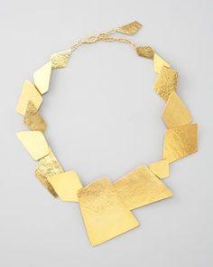 Element Square Necklace by Herve Van Der Straeten