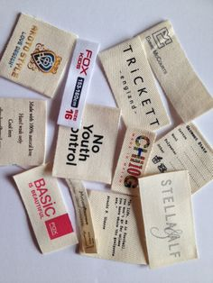 Printed Cotton Labels for garment labels http://www.woven-printed-garment-labels.com