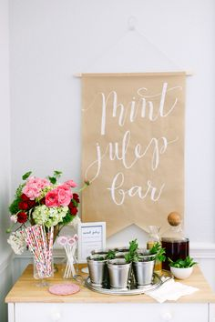 Kentucky Derby Party Guide: elebrate like a true Southerner by sprucing up your space with symbols from the race. At the Derby, the winning horse is cloaked in a garland of roses (the official flower of the Kentucky Derby), so fresh flowers make fitting decorations