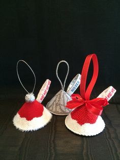 Santa & Hersey Kisses ~ Canvases by The Point of it All