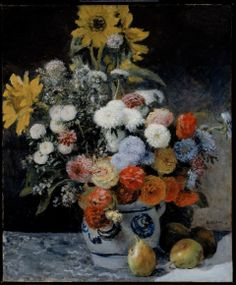 Pierre-Auguste Renoir, Mixed Flowers in an Earthenware Pot, about 1869.