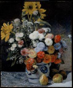 Pierre-Auguste Renoir, Mixed Flowers in an Earthenware Pot, about 1869.