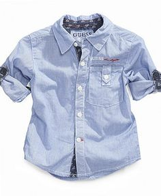 GUESS Baby Shirt, Baby Boys Woven Shirt