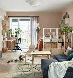 #IKEACatalog2016 Big bookcase at the foot of the bed is a good idea to divide a room and store extra stuff - especially if the room is for sleeping and office.