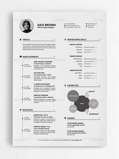 Buy Resume by MR-Design on GraphicRiver. A Clean and Sharp Resume Template. You can show your professionalism only with a Clean and Sharp Resume. Resume Design Template, Cv Template, Resume Templates, Portfolio Web, Portfolio Resume, Graphic Design Cv, Cv Design, Cv Inspiration, It Cv