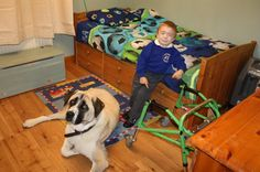 How Haatchi the Three-Legged Dog Is Helping a Disabled Boy      Seven-year-old Owen Howkins doesn't have to deal with Schwartz-Jampel syndrome by himself.