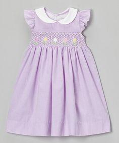 Love this Tulip Lavender Smocked Dress - Infant, Toddler & Girls by Fantaisie Kids on #zulily! #zulilyfinds