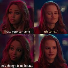 Riverdale Funny, Riverdale Memes, Riverdale Cast, Cheryl Blossom Riverdale, Riverdale Cheryl, Easy At Home Workouts, Vanessa Morgan, Madelaine Petsch, Betty Cooper