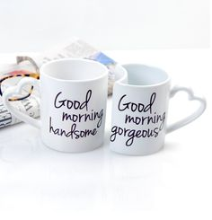 His & Hers Coffee Mugs.. Leon will you PLEASE start drinking coffee with me?? lol