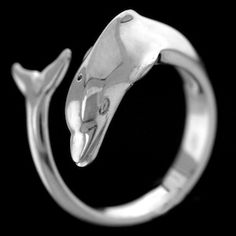 SMALL DOLPHIN RING $60. 925 Sterling Silver. Adjustable www.rasnickjewelry.com