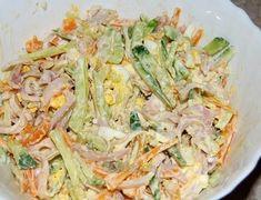 Салат из кальмаров, огурцов и моркови | Школа шеф-повара