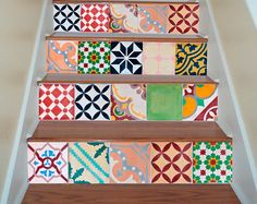tiles decals tiles stickers tiles for stairs kitchen backsplash or bathroom pack of - Stickers Tuile Vinyle Salle De Bain