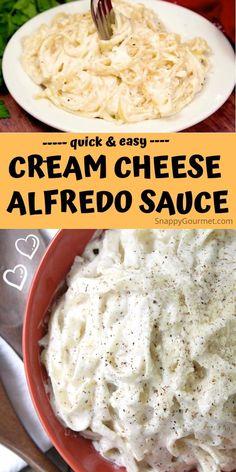 Home Made Alfredo Sauce, Alfredo Sauce Recipe Without Heavy Cream, Sauce Alfredo, Alfredo Sauce Recipe Easy, Easy Pasta Sauce, Cream Sauce Pasta, Cheese Sauce For Pasta, Pasta Sauce Recipes, Cream Cheese Alfredo Recipe