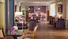 Tres Jolie! Lavender lounge at Castille Paris - Paris, France #JetsetterCurator