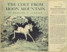 The Colt from Moon Mountain by Dorothy P. Mountain Illustration, Book Illustration, The Last Unicorn, Wood Elf, Moon Child, Childrens Books, Illustrators, Fairy Tales, Art Projects