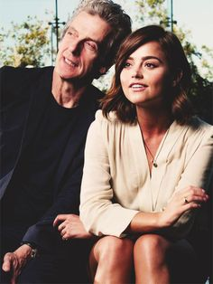 """Matt is like a tornado who dances round the room, whereas Peter makes the room come to him. Peter has something mythical about him – you could believe he's 2000 years old – no offence Peter!"" Jenna Coleman comparing Matt Smith and Peter Capaldi"