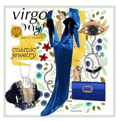 """""""Cosmic Jewelry - Virgo"""" by zouus on Polyvore featuring BERRICLE, Anya Hindmarch, Yves Saint Laurent, Roger Vivier and Delfina Delettrez"""