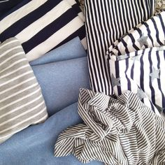 #blue #stripes #musthave #summercolor