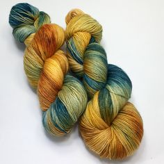 Hand dyed Merino/Silk sock yarn. 150 grams, 600 yards. 2 ply. Perfect for knitting, crochet or weaving by ThreeSistersFiberCo on Etsy
