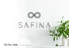 Geometric Minimalist Logo Design for website logo, blog logo, boutique logo, restaurant logo, creative business branding or small business logo.